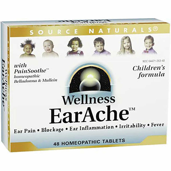 Source Naturals Wellness EarAche (Homeopathic), 48 tabs.
