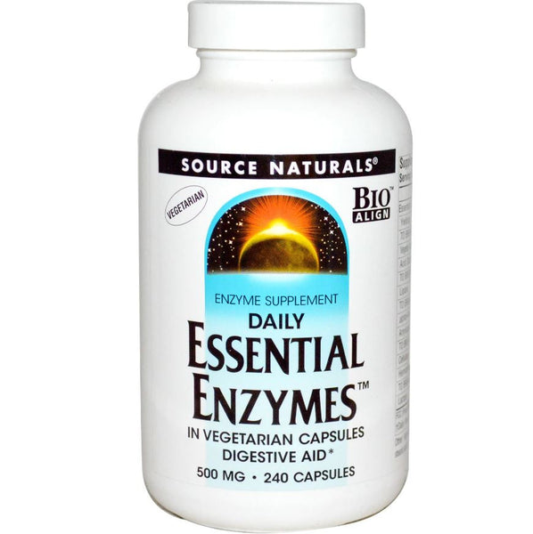 Source Naturals Daily Essential Enzymes, 240 vcaps.