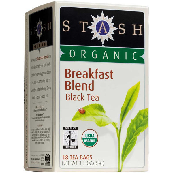 Stash Tea Company Breakfast Blend Fair Trade (>95% Organic), 18 bags