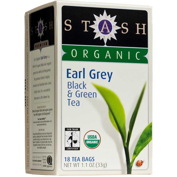 Stash Tea Company Earl Grey Black Fair Trade (>95% Organic), 18 bags