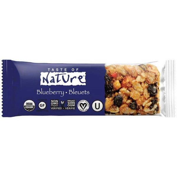 Taste of Nature Organic Food Bar - Blueberry, 40g.