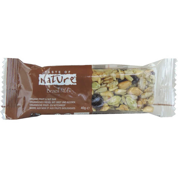 Taste of Nature Organic Food Bar - Brazil Nut, 40g.