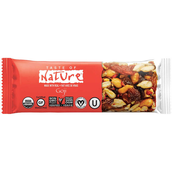 Taste of Nature Organic Food Bar - Goji, 40g.