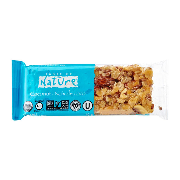 Taste of Nature Organic Food Bar - Coconut, 40g.