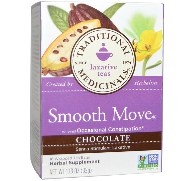 Traditional Medicinals Chocolate Smooth Move Tea, 16 bags