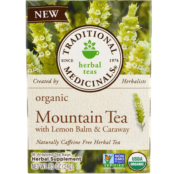*Buy 1 Get 1 FREE* Traditional Medicinals Organic Mountain Tea w/Lemon Balm & Caraway,16 bags