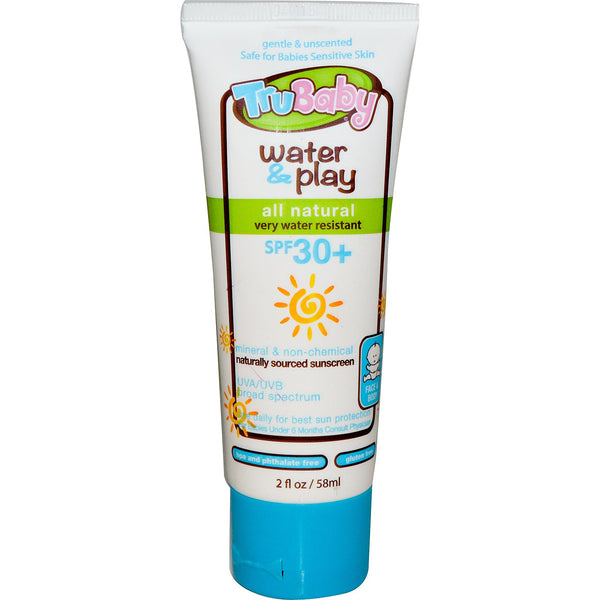 TruBaby Water & Play - Unscented+ Water Resistant -UVA/UVB Lotion, 58 ml