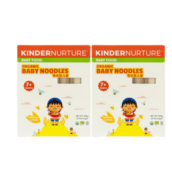 20% off [Bundle of 2] KinderNurture Organic Baby Noodles- Original Flavour, 200g.