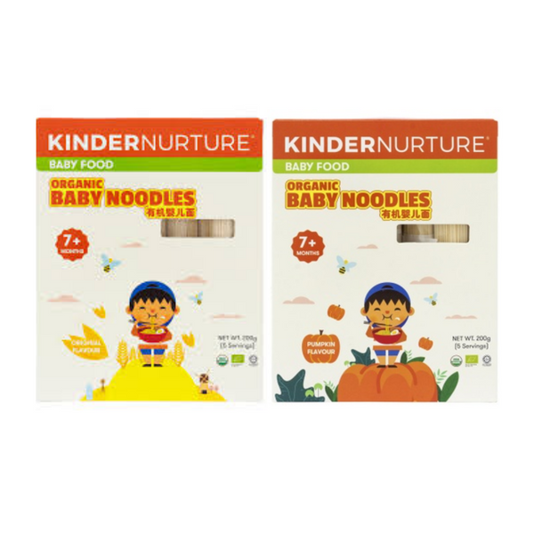 20% off [Bundle Deal] KinderNurture Organic Baby Noodles- Original Flavour + Pumpkin Flavour.