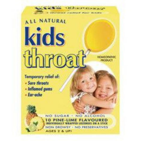 All Natural Kids Throat - Pinelime, 10 lozs.
