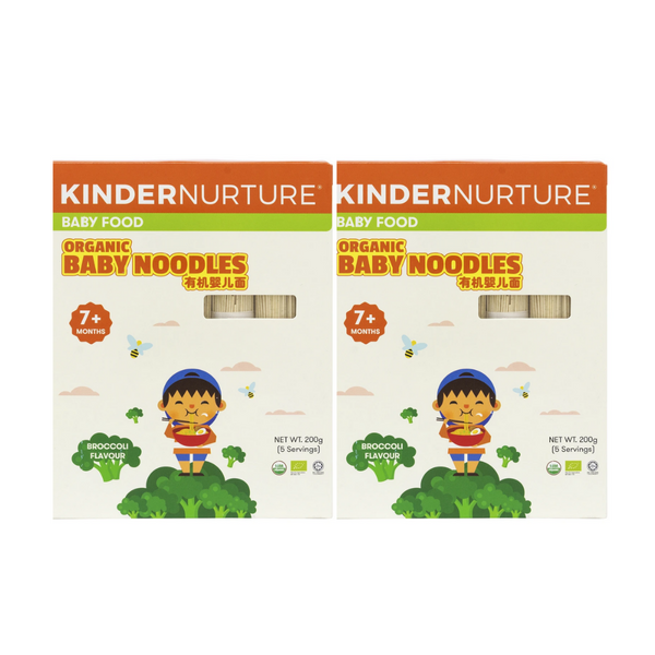 20% off [Bundle of 2]KinderNurture Organic Baby Noodles- Broccoli Flavour, 200g.