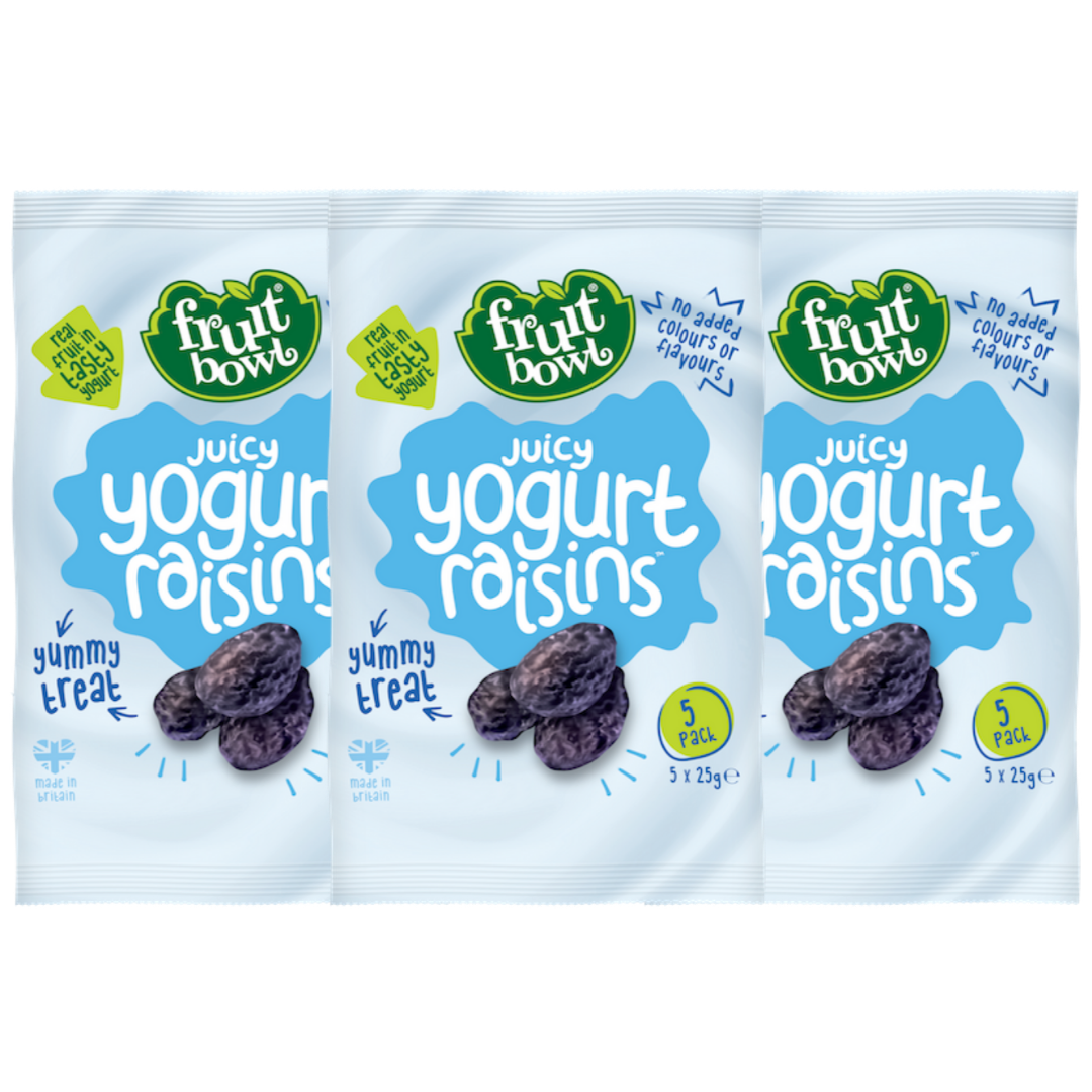 [Bundle of 3]Fruit Bowl Yogurt Flakes- Raisins, 5 x 25 g. (Expiry: Oct 2020)