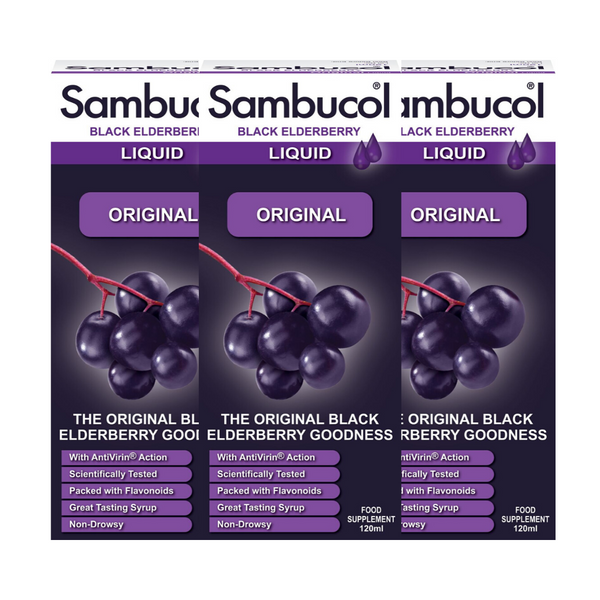 25% OFF [Bundle of 3] Sambucol Regular/Original (UK Version), 120 ml. *Authorised Exclusive Distributor