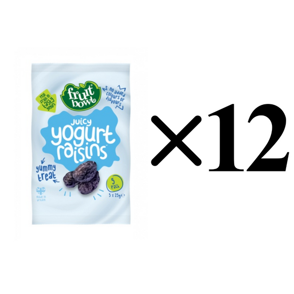 [Bundle of 12]Fruit Bowl Yogurt Flakes- Raisins, 5 x 25 g. (Expiry: Oct 2020)