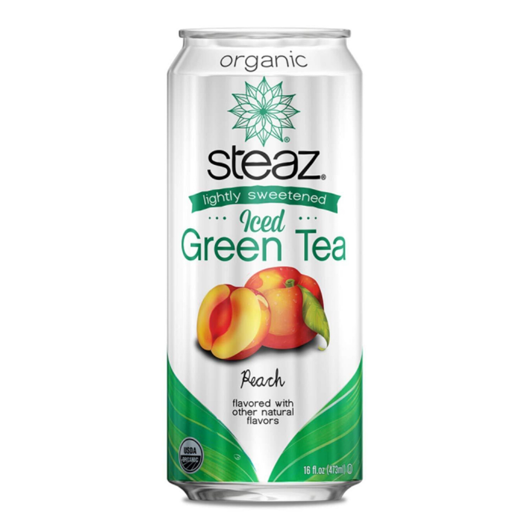 Steaz Organic Iced Teaz - Peach, 473 ml.