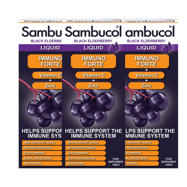 25% OFF [Bundle of 3] Sambucol Immuno Forte (UK Version), 120 ml. *Authorised Exclusive Distributor