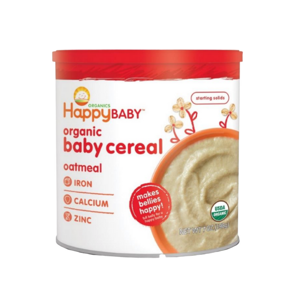 Happy Family Happy Baby Organic Baby Cereal - Oatmeal, 198g