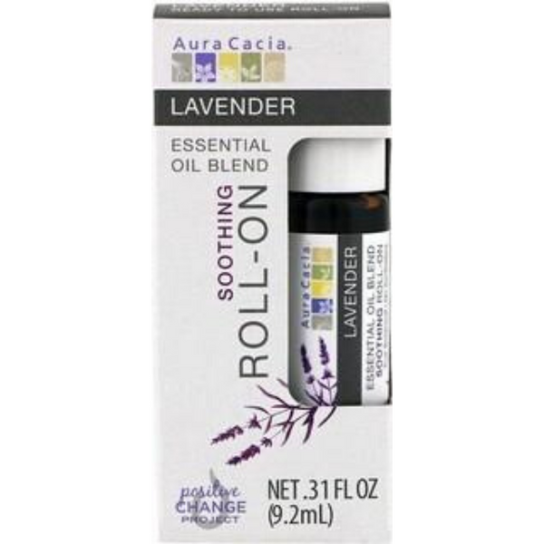 Aura Cacia Soothing Roll On- Lavender, 9.2 ml.
