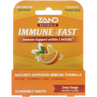 ZAND Immune Fast Zesty Orange, 15 Chewable Tabs.