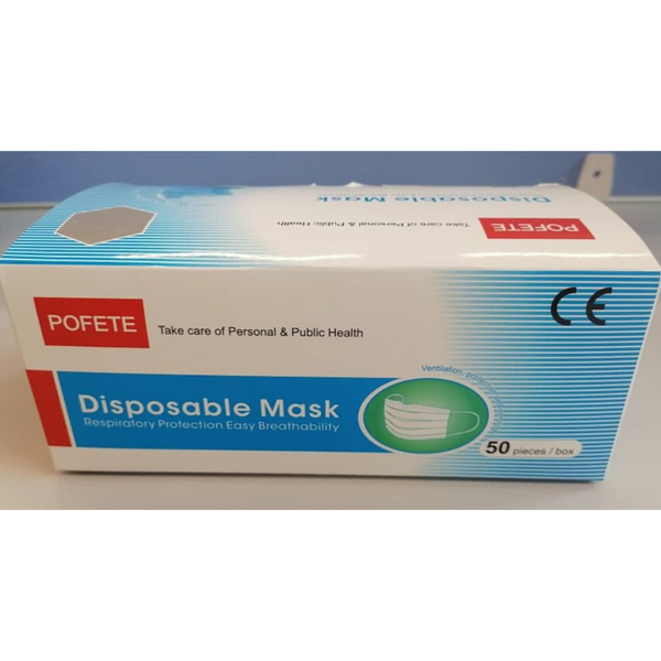 [Promotion] Pofete Disposable 3ply Protective Mask, 50 pcs.