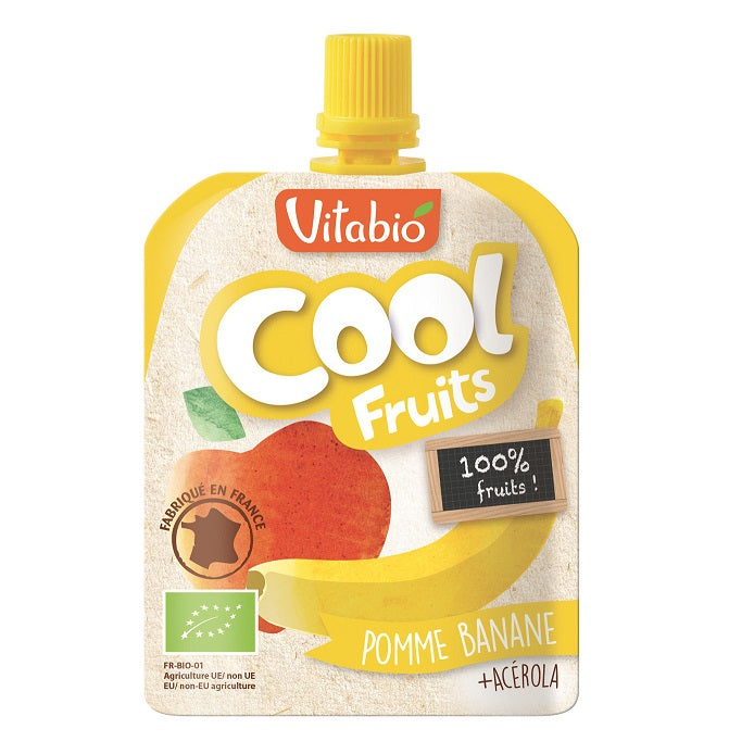 Vitabio Cool Fruits Apple-Banana Organic Smoothie, 90 g-NaturesWisdom