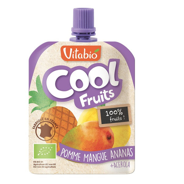 Vitabio Cool Fruits Apple-Mango-Pineapple Smoothie, 90g.