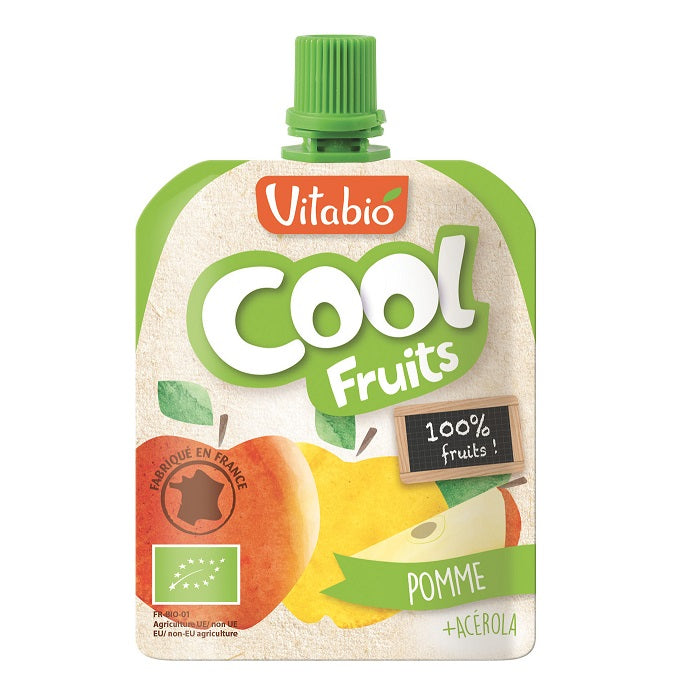 Vitabio Cool Fruits Apple Organic Smoothie, 90 g-NaturesWisdom