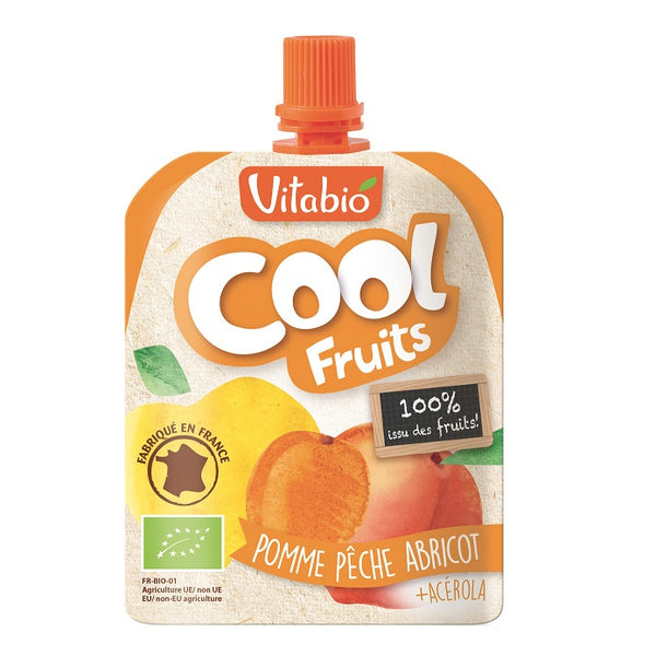 Vitabio Cool Fruits Apple-Peach-Apricot Organic Smoothie, 90 g