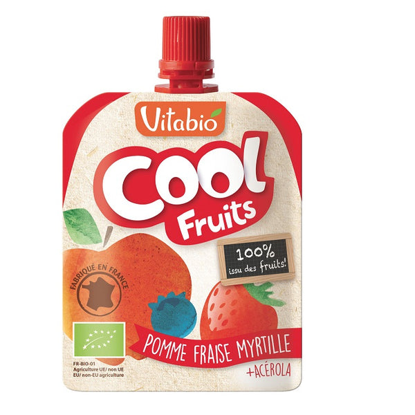 Vitabio Cool Fruits Apple-Strawberry-Blueberry Organic Smoothie, 90 g