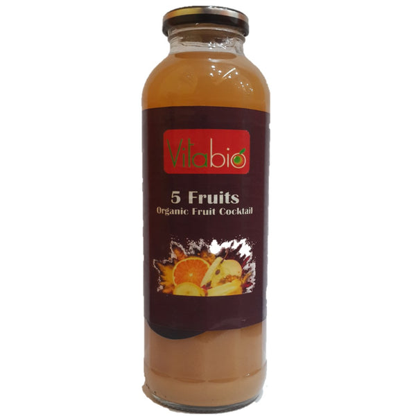 Vitabio Organic Fruit Cocktail - 5 Fruits, 500 ml