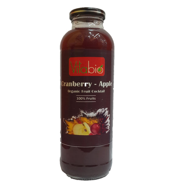Vitabio Organic Fruit Cocktail - Cranberry-Apple, 500 ml