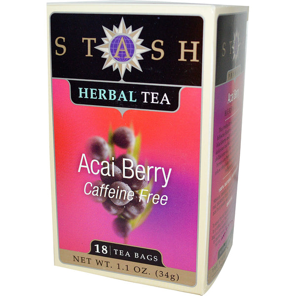 Stash Tea Company Acai Berry Herbal Tea (>95% Organic), 18 bags