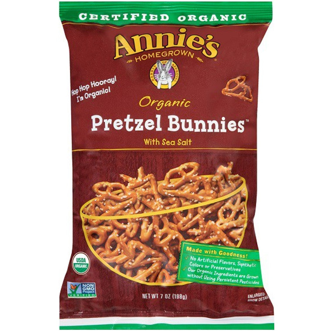 Annie's Homegrown Organic Pretzel Bunnies - Original, 198g.