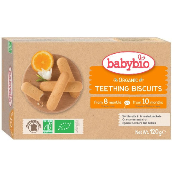Babybio Organic Teething Biscuits (6 x 4), 120 g