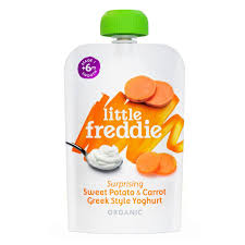 Little Freddie Surprising Sweet Potato & Carrot Greek Style Yoghurt, 100g.