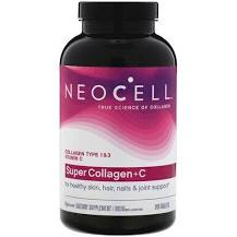 Neocell Super Collagen+C, Type 1 & 3, 250 tabs.