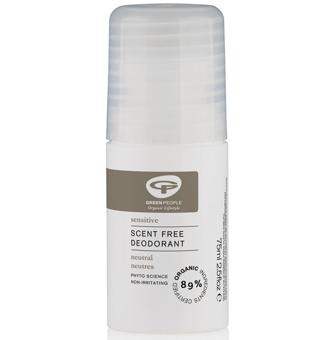 Green People Neutral Scent Free Deodorant, 75 ml.