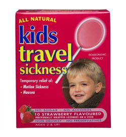 All Natural Kids Travel Sickness - Strawberry, 10 lozs.