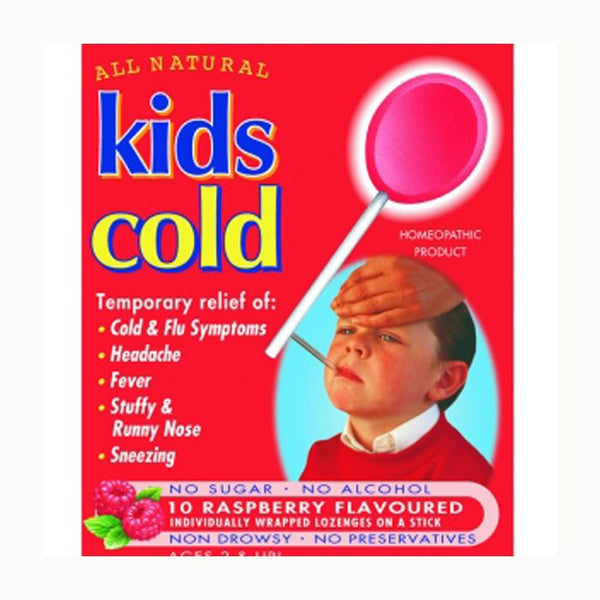 All Natural Kids Cold  - Raspberry, 10 lozs.