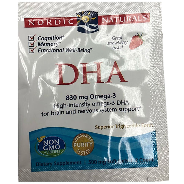 FREE SAMPLE Nordic Naturals DHA 500 mg - Strawberry