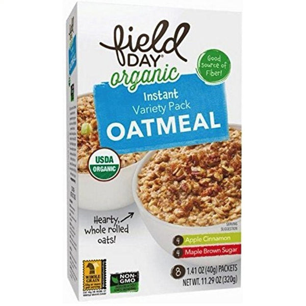 Field Day Organic Instant Oatmeal - Variety Pack, 8 x 40 g.