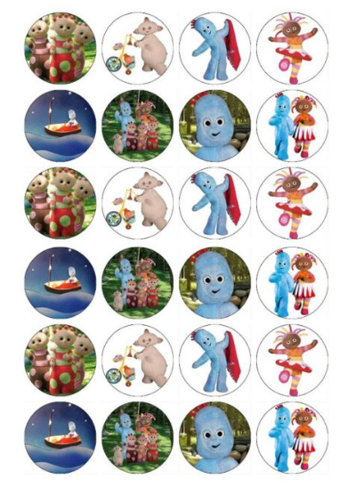 In the Night Garden Edible Cupcake Toppers