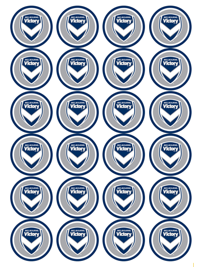 Melbourne Victory Edible Cupcake Toppers