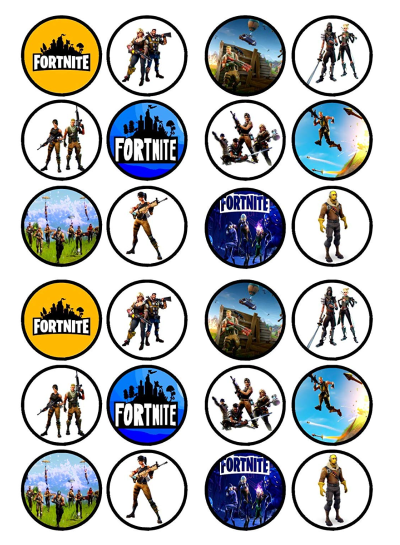 Fortnite Edible Cupcake Toppers