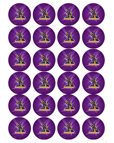 Melbourne Storm Edible Cupcake Toppers