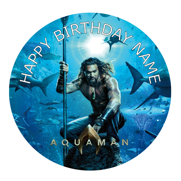Aquaman Edible Cake Topper