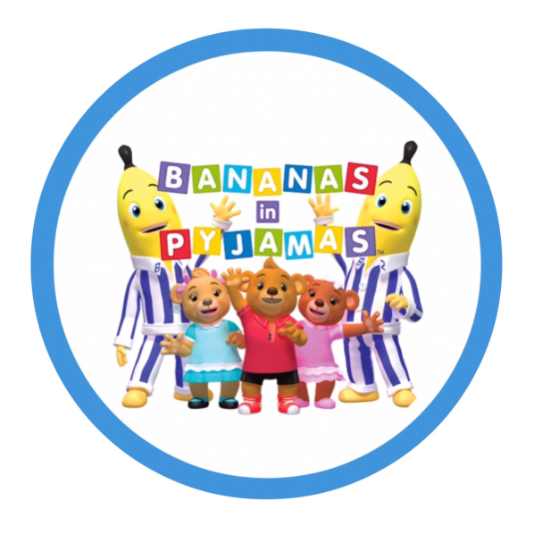 Bananas in Pyjamas Edible Cake Topper