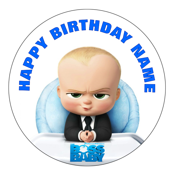 Boss Baby Edible Cake topper