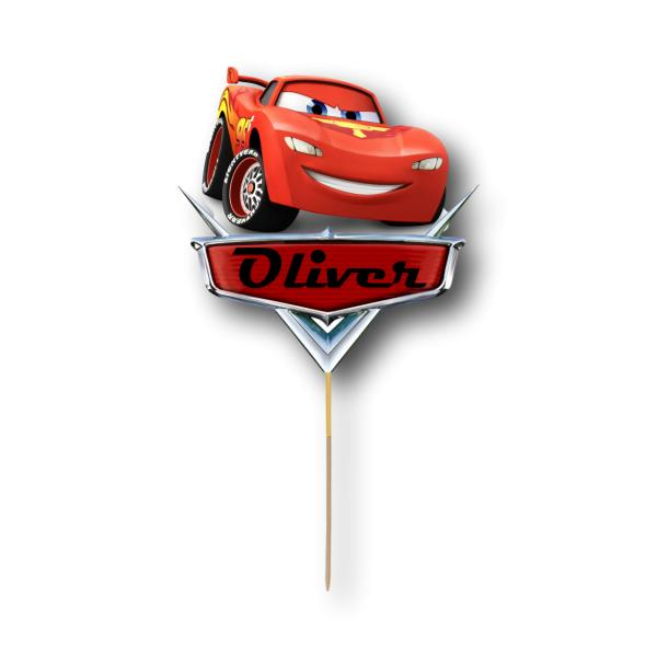 Cars Card Cake Topper