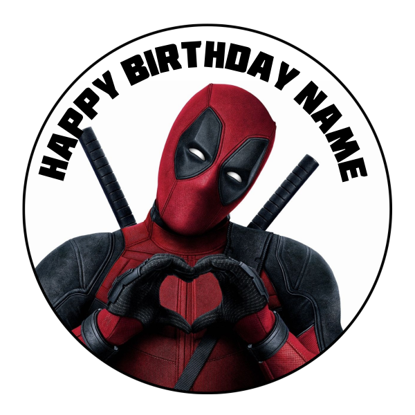 Deadpool Edible Cake Topper